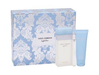 Dolce Gabbana Light Blue Dárková sada Toaletní voda 100 ml, tělový krém 75 ml a miniaturka Toaletní voda 10 ml