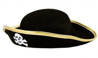 Pirátský klobouk s lebkou, dětský