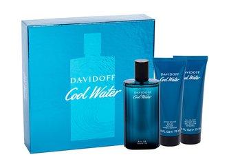 Davidoff Cool Water toaletní voda 125 ml + balzám po holení 75 ml + spchový gel 75 ml