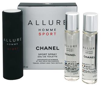Chanel Allure Homme Sport Toaletní voda 3x20 ml Twist and Spray pro muže