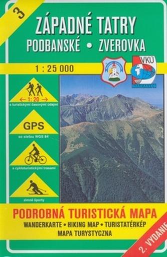 Západné Tatry Podbanské Zverovka 1 : 25 000