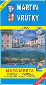 Martin, Vrútky 1:10 000 Mapa mesta Town plan Stadtplan Plan miasta Várostérkép