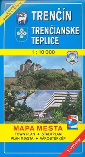 Trenčín Trenčianske Teplice 1 : 10 000 Mapa mesta Town plan Stadtplan Plan miast