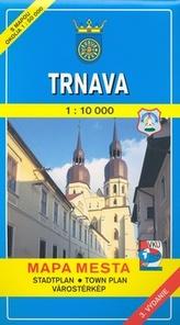 Trnava 1:10 000 Mapa mesta Town plan Stadtplan Plan miasta Várostérkép