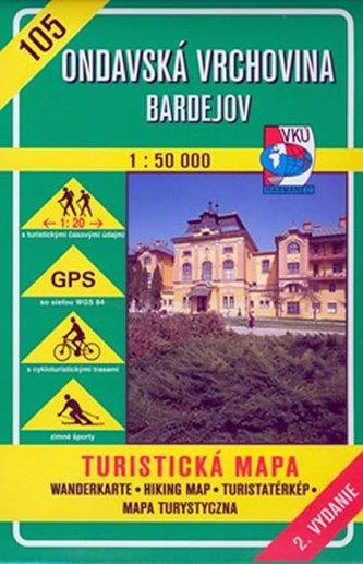 Ondavská vrchovina 1 : 50 000