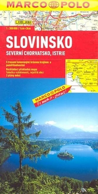 Slovinsko, Severní Chor.,Istrie - automapa 1:300 000
