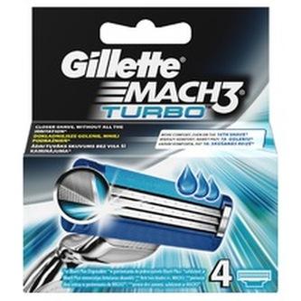 Gillette Mach3 Turbo Náhradní břit 4 ks pro muže