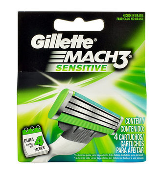 Gillette Mach3 Náhradní břit Sensitive 4 ks pro muže