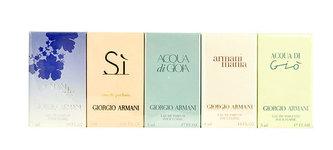 Giorgio Armani Mini Set 2 edt Acqua di Gio Pour Femme 5 ml + edp Mania Pour Femme 4 ml + edp Acqua di Gioia 5 ml + edp Si 7 ml+ edp Code Women 3 ml