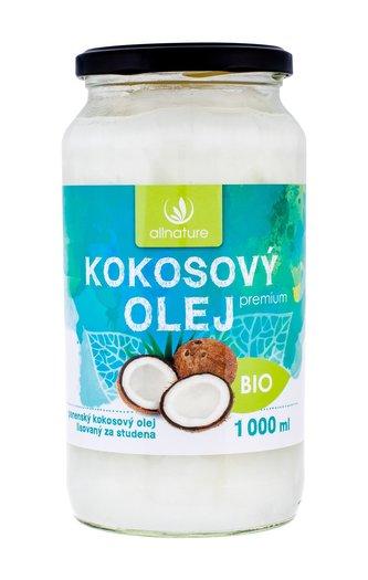 Allnature Premium Bio Coconut Oil Přípravek pro zdraví 1000 ml unisex