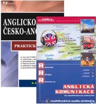 Balíček 3ks Anglicko-český praktický slovník + multifunkční audio učebnice + CD