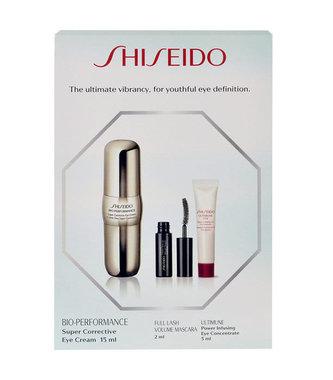Shiseido Bio-Performance oční krém BIO-PERFORMANCE Super Corrective 15 ml + řasenka Full Lash Volume 2 ml + oční péče Ultimune Power Infusing Eye Concentrate 5 ml