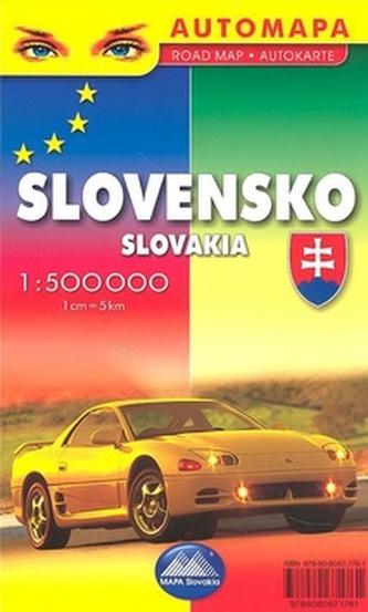 Slovensko Slovakia 1: 500 000
