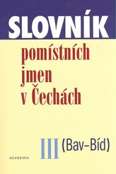 Slovník pomístních jmen v Čechách III