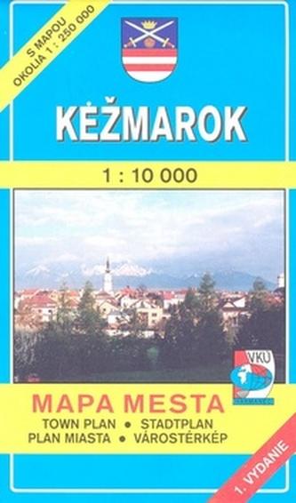 Kežmarok 1 : 10 000 Mapa mesta Town plan Stadtplan Plan miasta Várostérkép