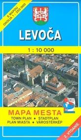 Levoča 1 : 10 000 Mapa mesta Town plan Stadtplan Plan miasta Várostérkép