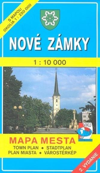 Nové Zámky 1 : 10 000 Mapa mesta Town plan Stadtplan Plan miasta Várostérkép