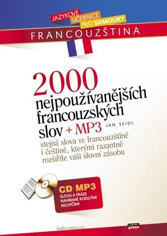 2000 nejpoužívanějších francouzských slov + CD MP3