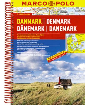 Marco Polo Reiseatlas Dänemark. Danmark / Denmark / Danemark