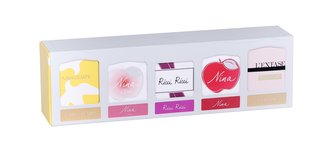 Nina Ricci Collection edp L´Extase 4 ml + edt Nina 4 ml + edp Ricci Ricci 4 ml + edt L´Air du Temps 4 ml + edt Nina L´eau 4 ml