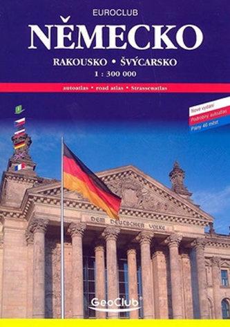 Německo Rakousko Švýcarsko 1: 300 000