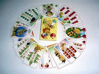 Včelka Mája - hrací karty