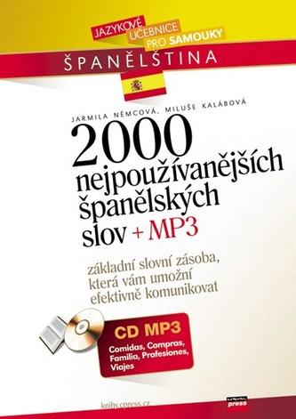 2000 nejpoužívanějších španělských slov + CD MP3