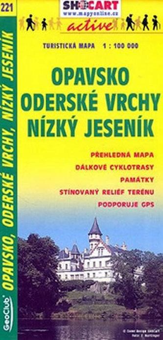 Opavsko Oderské vrchy Nízký Jeseník 1:100 000