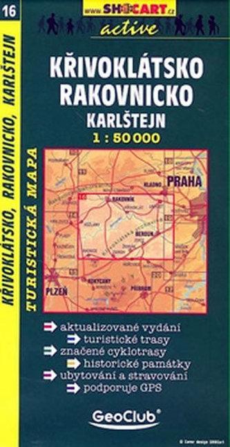 Křivoklátsko Rakovnicko Karlštejn 1:50 000