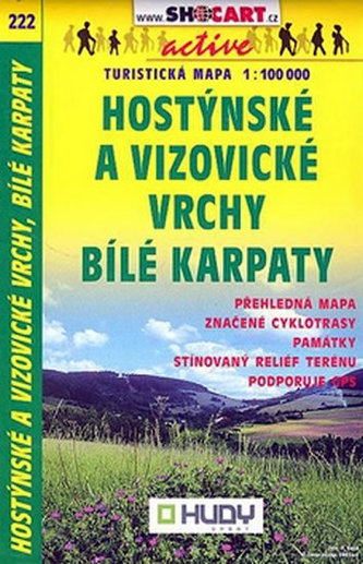 Hostýnské a Vizovické vrchy Bílé Karpaty 1:100 000