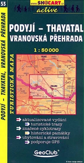 Podyjí-Thayatal Vranovská přehrada 1:50 000