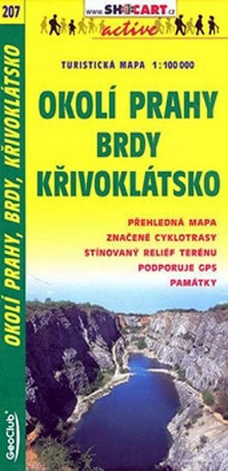 Okolí Prahy Brdy Křivoklátsko 1:100 000