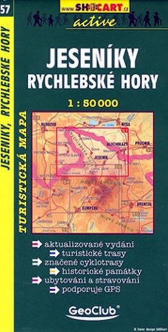 Jeseníky, Rychlebské hory 1: 50 000