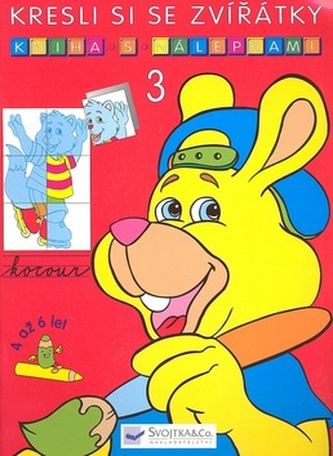 Kresli si se zvířátky Kniha s nálepkami 3