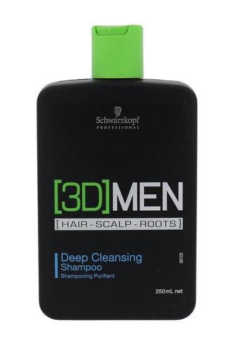 Schwarzkopf Professional Hloubkově čisticí šampon pro muže 3D (Deep Cleansing Shampoo) Hloubkově čisticí šampon pro muže 3D (Deep Cleansing Shampoo) - Objem 250 ml man