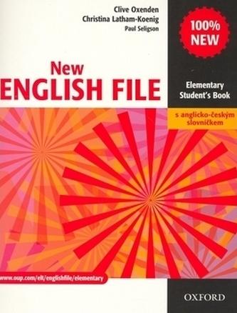 New English file elementary Studenťs Book s anglicko-českým slovníčkem - Clive Oxenden; Christi
