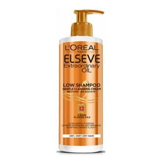 L´Oréal Paris Pečující mycí krém na vlasy Elseve Extraordinary Oil (Low Shampoo Gentle Cleansing Cream) 400 ml woman
