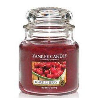 Yankee Candle Aromatická svíčka velká Zralé třešně (Black Cherry) 623 g unisex