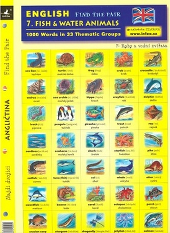 English Find the Pair 1.Ryby a vodní zvířata