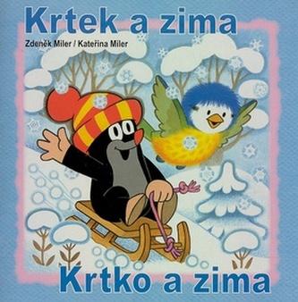 Krtek a zima - omalovánky čtverec - Miler Zdeněk
