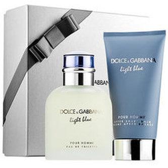 Dolce Gabbana Light Blue pour Homme Dárková sada Toaletní voda 75 ml a After Shave Balsam ( balzám po holení ) Light Blue pour Homme 75 ml