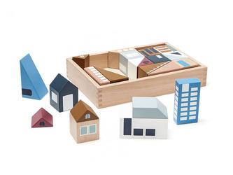Kostky město Aiden dřevěné - Kids Concept