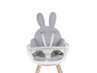 Sedací podložka do dětské židličky Rabbit Jersey Grey - Childhome