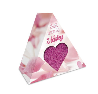 Krabička dárková Z lásky - koupelová sůl 200g