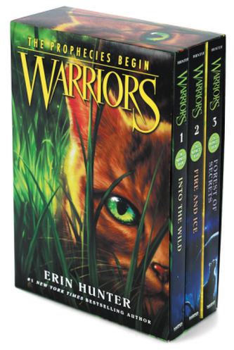 Warriors, Into the Wild / Warriors, Fire and Ice / Warriors, Forest of Secrets - Erin Hunter