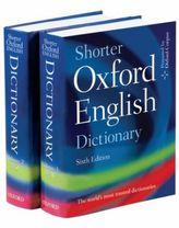 Shorter Oxford English Dictionary, 2 Vols.
