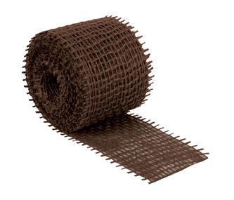 Jutový dekorační pásek - hnědý - 3m x 4 cm