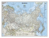 National Geographic Map Russia, Planokarte
