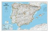National Geographic Map Spain and Portugal, Planokarte