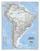 National Geographic Map South America, Planokarte